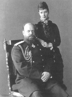Alexander III & Maria Feodorovna of Russia - the ultimate beauty and the beast couple!