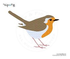 Robin applique template - PDF applique pattern