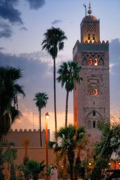 Morocco Travel Inspiration - Koutoubia Mosque, Marrakesh مسجد بمراكش : قال تعالى : وأن