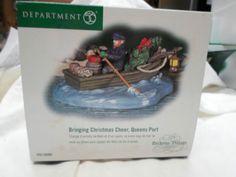 "Dept. 56  #58580. Dickens Village ""Bringing Christmas Cheer Queens Port"". Size: 4.75 x 4.5"" x 2"". Introduced December, 2003 & retired December, 2005."