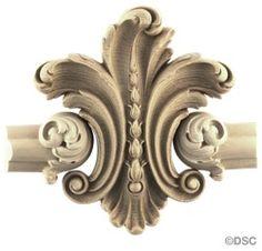 Wall Panel Design - Center Ornament - 5  1/2H X 6W 9860