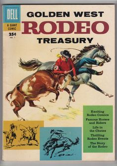 Golden West Rodeo Treasury #1 - VGD/FN - Dell Giant Western