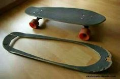 Old skateboard mod. DIY
