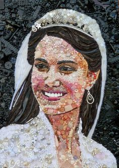 Art Made From Junk  KATE MIDDLETON. (Photo by Jane Perkins/Caters News)