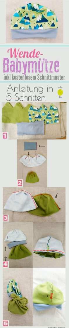 Most recent Totally Free knitting baby beanie Thoughts Babymütze nähen Anleitung Schnittmuster kostenlos Baby Knitting Patterns, Hat Patterns To Sew, Sewing Patterns Free, Baby Patterns, Free Pattern, Pattern Sewing, Free Knitting, Kids Knitting, Baby Girls Clothes