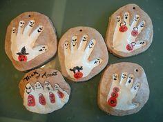 Salt dough handprints Halloweenie style :)