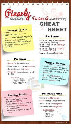 The ultimate Pinterest #cheat #sheet! Easy and quick!