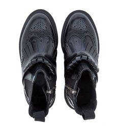 DR. MARTENS BEATLES DR. MARTENS TINA IN BLACK BRUSHED LEATHER. #dr.martens #shoes #