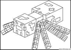 Minecraft Black and White Illusions | Dibujos Para Colorear De Minecraft