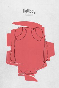 Hellboy (2004) ~ Minimal Movie Poster by Tamas Horvath #amusementphile