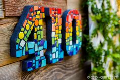 Colourful idea for house numbers. Love that they don't have a backing plate