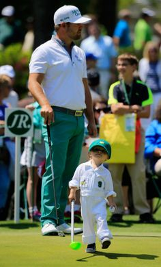 Ryan Moore with his son - 2014 Masters - Golfers' children work as adorable caddies Kids Golf, Play Golf, Masters Golf, 2014 Masters, Ryan Moore, Golf Humor, Funny Golf, Golf Quotes, Hole In One