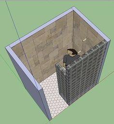 Image result for doorless shower ideas