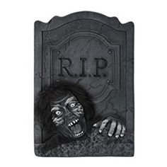 Amazon.com: Beistle Zombie RIP Tombstone, 21-Inch by 13-1/2-Inch: Kitchen & Dining