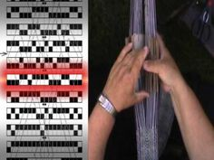 ▶ Tablet weaving, my way to use diagram for the pattern. - YouTube