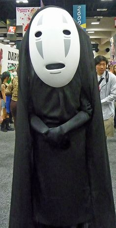"No Face from Spirited Away. ""It is also, as is evidented by the link to this from twitter, Adam Savage of the Mythbusters. I just thought it was a cool costume."""