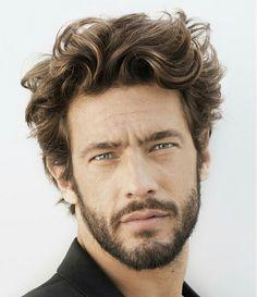 Medium men's hairstyle