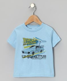 Little ones don't have to go back in time to look McFly in the '80s-inspired graphic that graces this classic tee, they'll still be able to appreciate its comfy cotton fit and all the compliments they receive while wearing it.100% cottonMachine wash; tumble dryImported