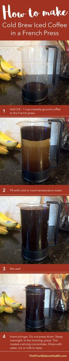 How To Make Cold Brew Iced Coffee In a French Press http://ift.tt/2mazTZq