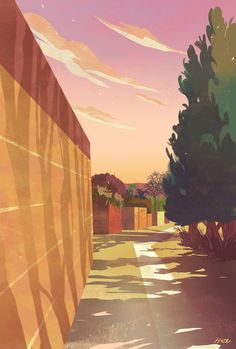 heejindraws:  The alleyway.    Happy Saturday!