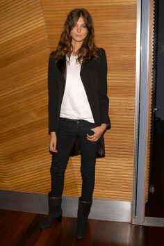 Daria Werbowy. Tail coats are really hot right now but I have always loved them. I prefer the older more vintage style short waisted.