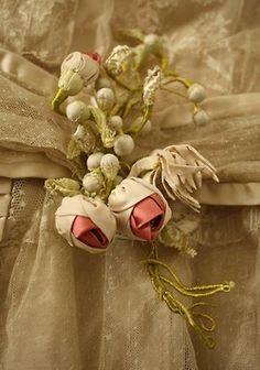 Late 1800-early 1900's velvet flowers
