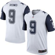 b43a97611 Cowboys Mens Tony Romo Nike Color Rush Legend Jersey - White
