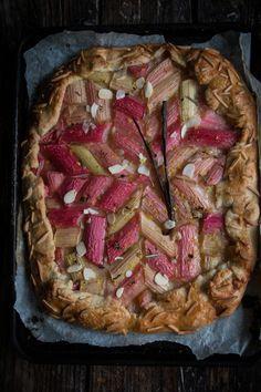 Rhubarb lemon and rosemary tart - twigg studios