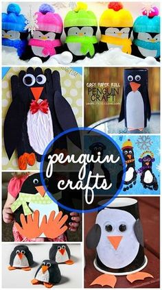 Creative Penguin Crafts for Kids to Make #Winter art project ideas! | CraftyMorning.com