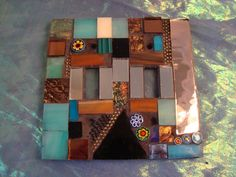MOSAIC LIGHT SWITCH Plate  Double by victoriacharlotte on Etsy, $24.00
