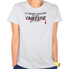 2nd Grade Vampire by Night T Shirt, Hoodie Sweatshirt