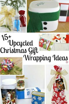 Upcycled Christmas Gift Wrapping Ideas