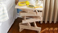 Stack-It-Up Table || Lowe's Creative Ideas Build a one-of-a-kind bedside nightstand that's both simple and stylish.