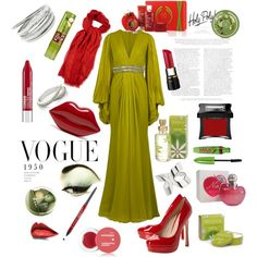"""yeşil & kırmızı"" by hannahsweety on Polyvore"
