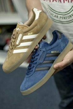 timeless design fe11f a8090 A pair of adidas Gazelle Original  Super  in two colourways for release in  2017