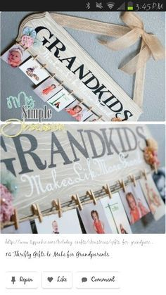 Cute gift for grandparents.  Or put Cousins and pictures