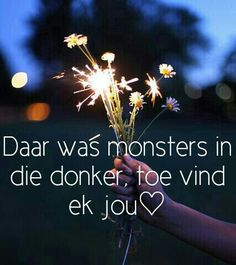 #monsters #jou #vind #donker Afrikaans, Words Quotes, Monsters, Movie Posters, Word Sentences, Film Poster, Popcorn Posters, Monster Crafts, Afrikaans Language