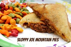 Sloppy Joe Mountain Pies for camping!!!