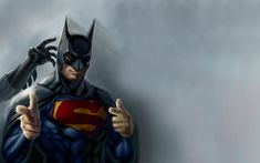 """Those that know how much I love batman will totally get why I find this hilarious! Even Superman wants to be Batman.yah hailey """"even superman wants to be batman"""". Batman Vs Superman, Poster Superman, Posters Batman, Batman Cape, Funny Superman, Batman Hero, Batman Versus, Batman Superhero, Spiderman"""