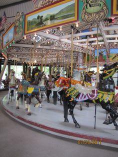 Knoebels Amusement Resort, Elysburg Pa Knoebels Amusement Park, Carousel Museum, Best Amusement Parks, Sea Isle City, Merry Go Round, All The Pretty Horses, Carousel Horses, The Good Old Days, North America