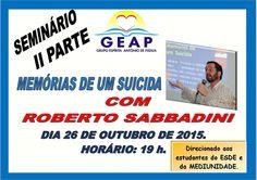 GEAP – Grupo Espírita Antonio de Pádua Convida para o seu Seminário II Parte – Sto Antônio de Pádua – RJ - http://www.agendaespiritabrasil.com.br/2015/10/26/geap-grupo-espirita-antonio-de-padua-convida-para-o-seu-seminario-ii-parte-sto-antonio-de-padua-rj/