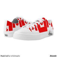 633368b398 Maple leaf printed shoes Leaf Prints