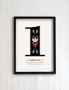 Personalized Number Poster by Eva Juliet