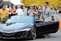 Tony Stark and Doctor Banner (Hulk) reveal the New Acura NSX in the Avengers.