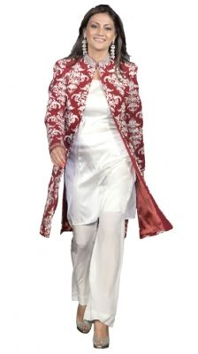 Fully Embroidered Jacket   Strandofsilk.com - Indian Designers