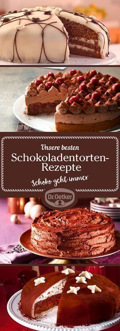 Oetker experimental kitchen will develop for you delicious, delicious chocolate cake recipes for every occasion – let yourself be inspired! Tasty Chocolate Cake, Chocolate Desserts, Pie Cake, No Bake Cake, No Bake Desserts, Delicious Desserts, Cake Cookies, Cupcake Cakes, Cake Recipes