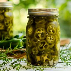 Pickled Jalapenos with Herbs Recipe