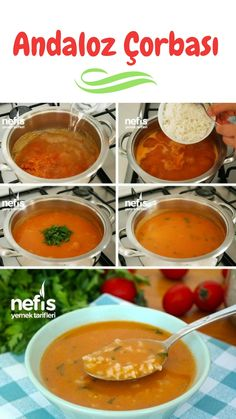 Video Description How to make Andaloz Soup Recipe (with video)? Soup Recipes, Dinner Recipes, Turkish Recipes, Ethnic Recipes, Turkish Kitchen, Homemade Beauty Products, Iftar, Organic Recipes, Food Videos