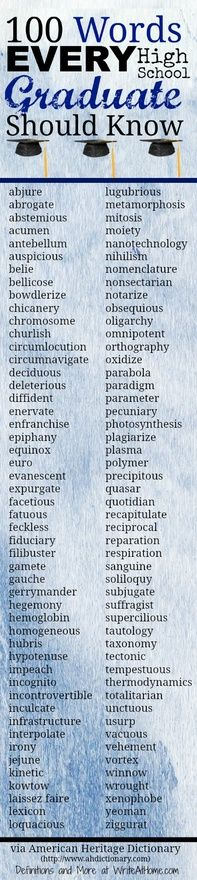 100 Words Every High School Student Should Know.