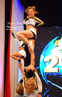 Cheer 2013 competitive cheerleading World Cup Allstars cheerleaders competition #KyFun stunt